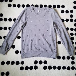 J crew rhinestone jewel sweater sweatshirt bead